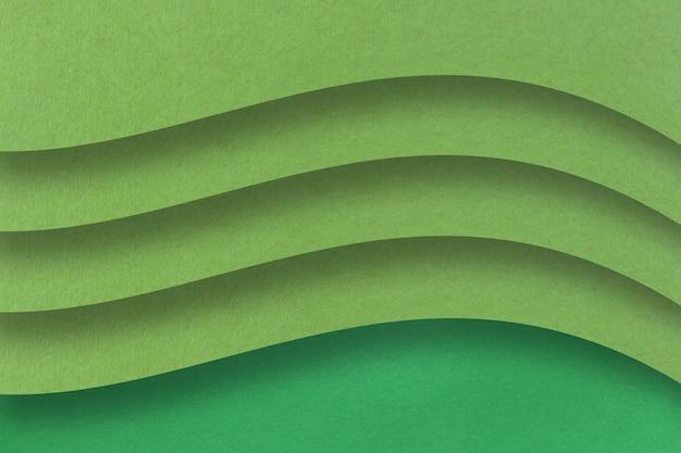 Zielony papier artystyczny z warstwami