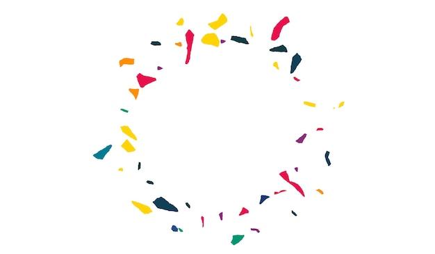 Zielony papier kolorowy świętować białe tło. pocztówka z zaproszeniem konfetti. zaproszenie na festiwal cząsteczek. pomarańczowa farba streszczenie tekstura.