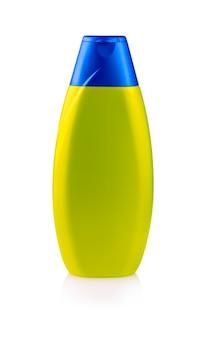 Zielony plastikowy butelka szampon odizolowywający