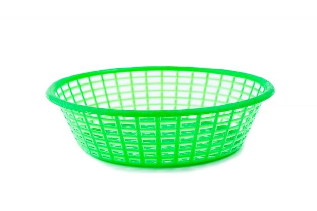Zielony plastikowy kosz