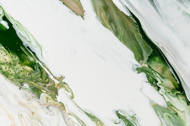 Zielony płynny marmur tło streszczenie płynna tekstura sztuka eksperymentalna