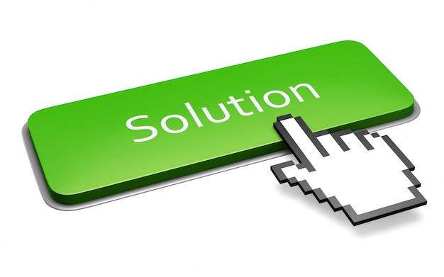 Zielony przycisk rozwiązania