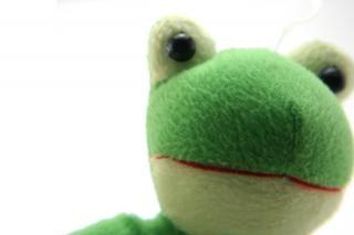 Zielony puszysty zabawka, figlarny