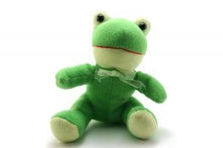 Zielony puszysty zabawka