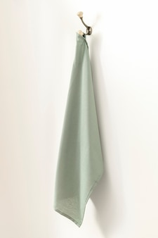 Zielony ręcznik kąpielowy wystrój domu