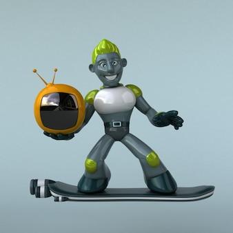 Zielony robot - ilustracja 3d