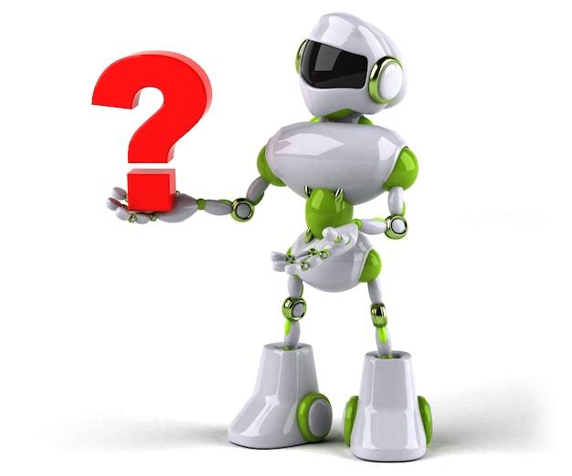 Zielony robot - postać 3d