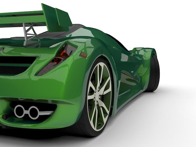 Zielony samochód koncepcyjny wyścigów