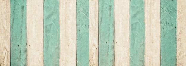 Zielony turkusowy i biały drewniany panel tekstura tło