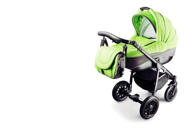 Zielony wózek dziecięcy