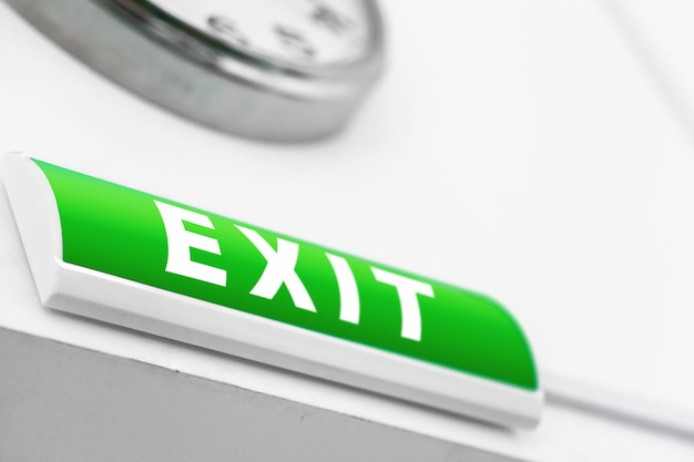 Zielony znak wyjścia