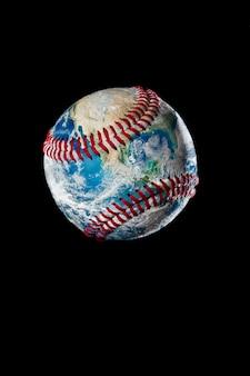 Ziemia jako piłka baseballowa. elementy tego zdjęcia dostarczone przez nasa.