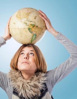 Ziemia uczeń map świeże górę