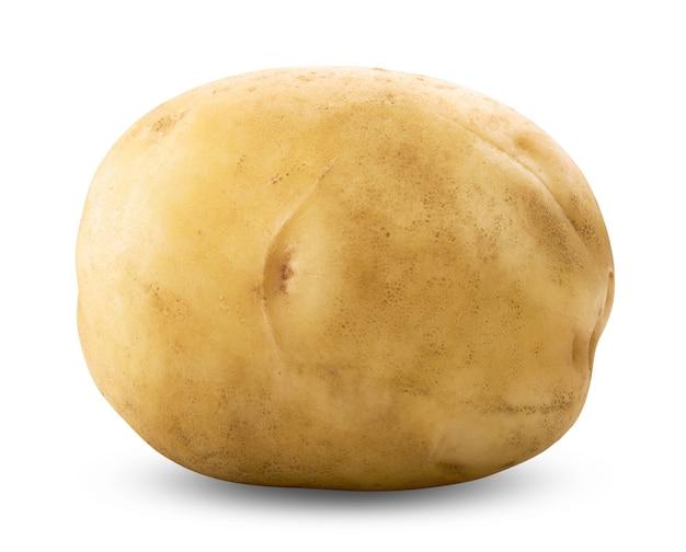 Ziemniak na białym tle