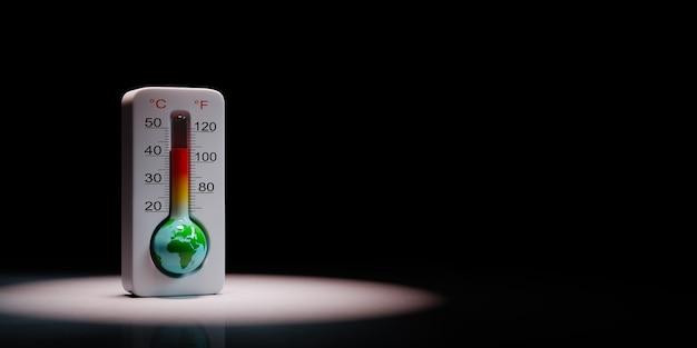 Ziemski termometr koncepcja globalnego ocieplenia