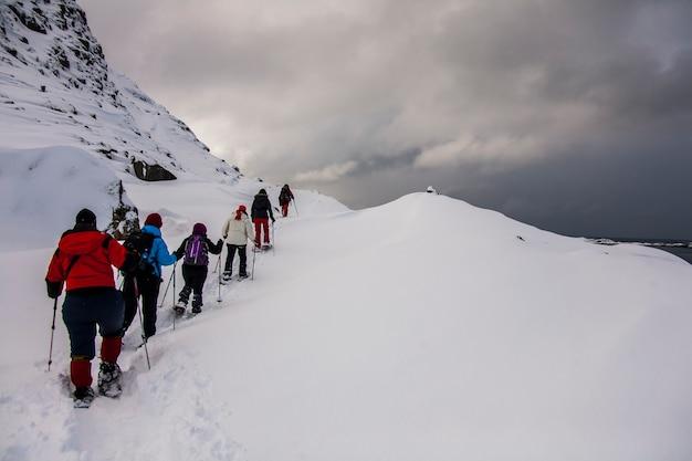 Zima na lofotach, północna norwegia.