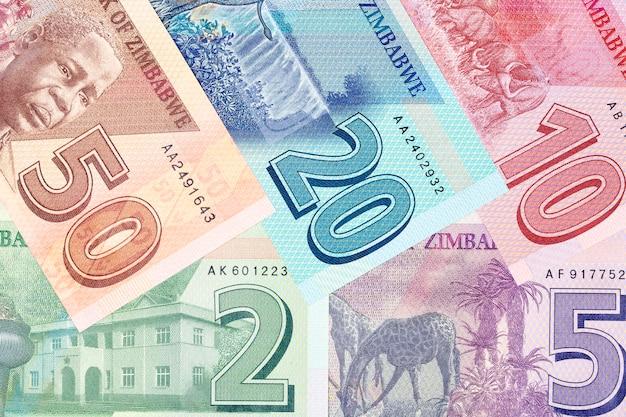 Zimbabwe money dollar pełny zestaw nowej serii