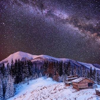 Zimowa magiczna noc
