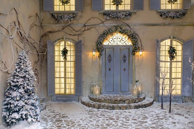 Zimowa świąteczna dekoracja.