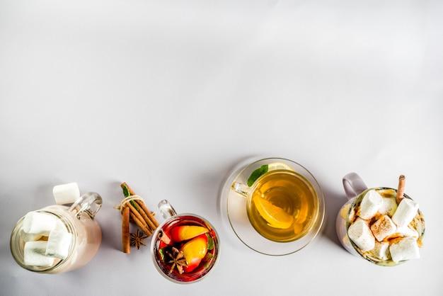 Zimowe jesienne tradycyjne napoje
