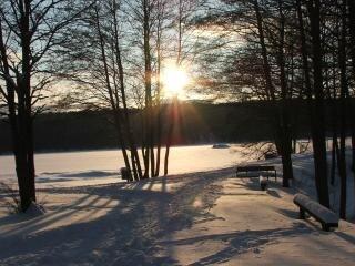 Zimowe słońce, po południu