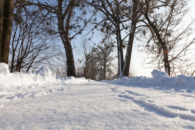Zimowy krajobraz drogowy
