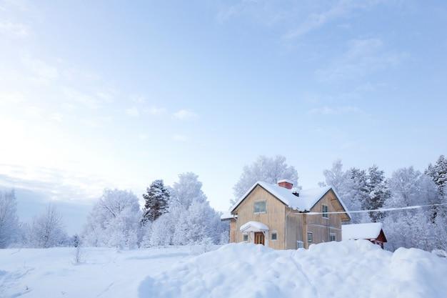 Zimowy krajobraz szwecja