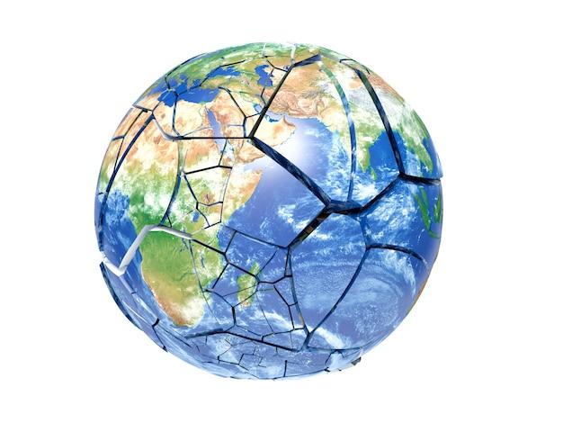 Złamana planeta ziemia