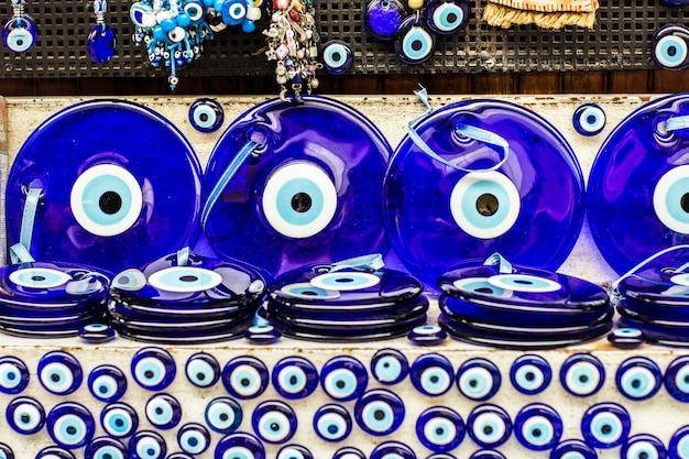 Złe oko - turecki amulet na bazarze w stambule