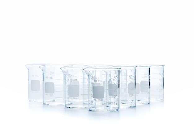 Zlewki pomiarowe o pojemności 80 ml do eksperymentu naukowego w izolowanym laboratorium, koncepcja sprzętu naukowego i edukacji