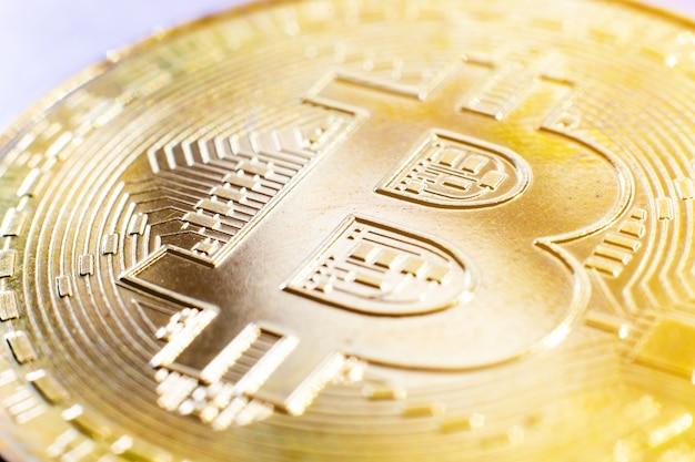 Złota bitcoinowa cyfrowa waluta