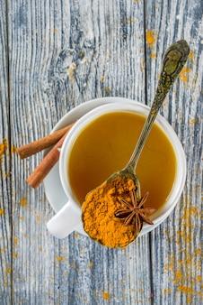 Złota cynamonowa kurkuma herbata