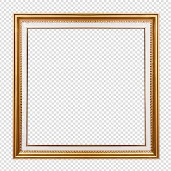 Złota drewniana rama odizolowywająca na transparen