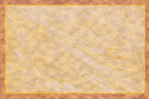 Złota granica mineralna i kremowa złota granitowa marmurowa luksusowa tekstura wnętrza tła powierzchni