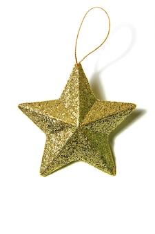 Złota gwiazda bożego narodzenia simbol nowego roku