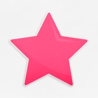 Złota ikona ulubionych gwiazda na białym tle