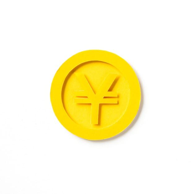 Złota japońska jen monety grafika