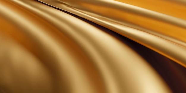 Złota luksusowa tkanina tło renderowania 3d