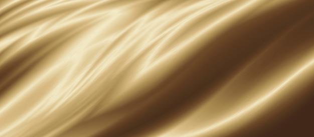 Złota luksusowa tkanina tło z ilustracją 3d przestrzeni kopii