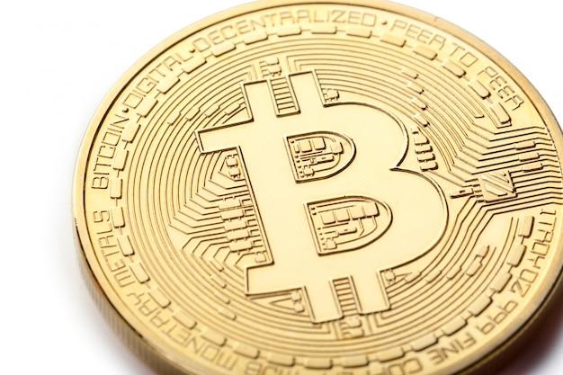 Złota moneta bitcoin