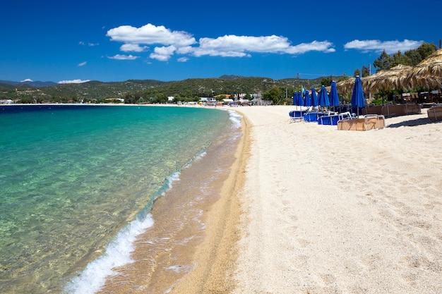 Złota plaża w grecji