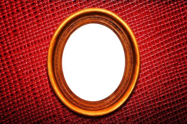 Złota ramka na czerwonym tle tekstury