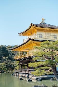 Złota świątynia gingakuji w kioto w japonii