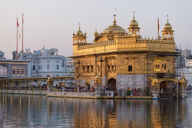 Złota świątynia w amritsar, pendżab, indie