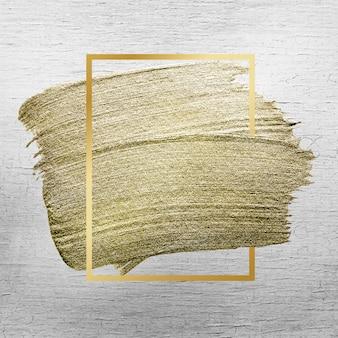 Złota tekstura obrysu pędzla