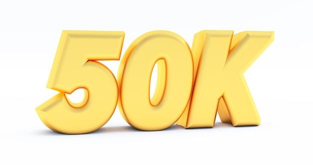 Złote 50k, 50000 na białym tle