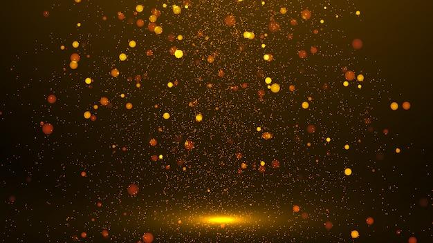 Złote abstrakcyjne iskierki lub blask świateł