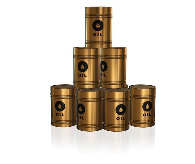 Złote beczki z olejem