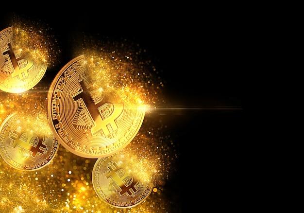 Złote bitcoiny