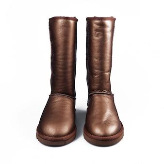 Złote buty zimowe
